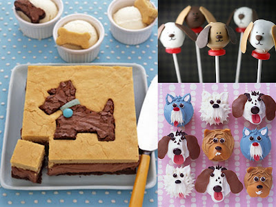 dog party treat collage