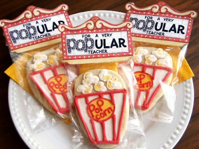 popcorn teacher cookie