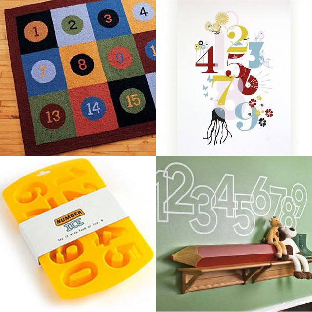 number product collage