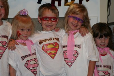 super hero party shirts