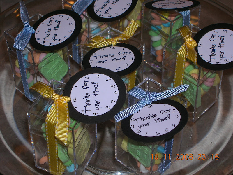 around the clock shower favors