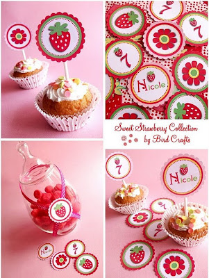 strawberry party collage 2