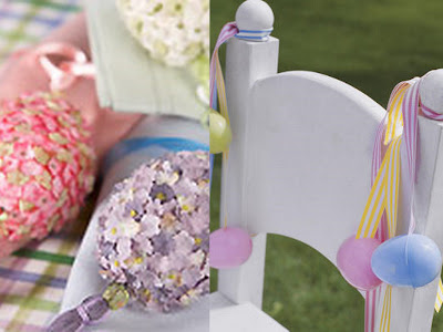 Easter chair decor