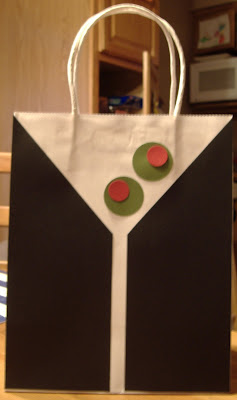 martini party gift bag