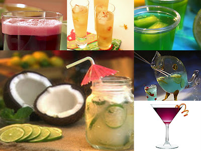 Food Network drink collage
