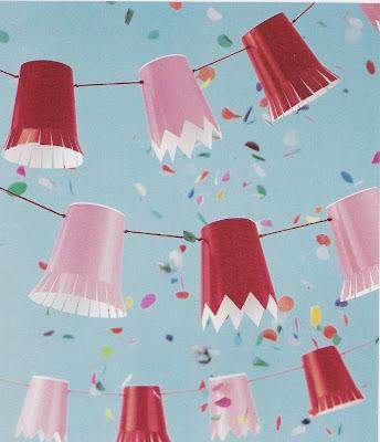 Martha Stewart paper cup garland