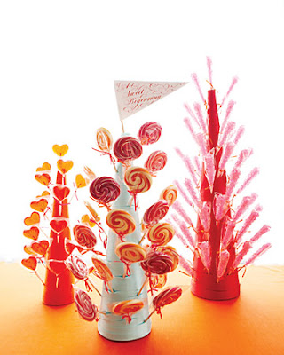 food gifts: lollipop trees tutorial