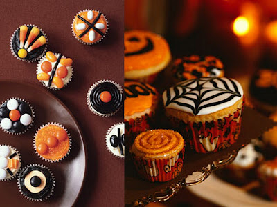 pumpkin cupcake collage