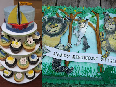 Where The Wild Things Are cake collage