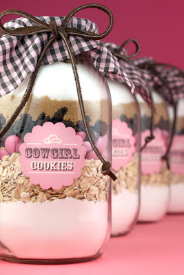 Breast Cancer Awareness pink cookies in a jar