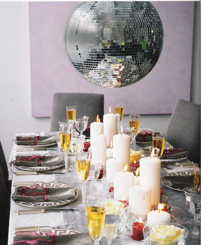 New Year's Eve disco table