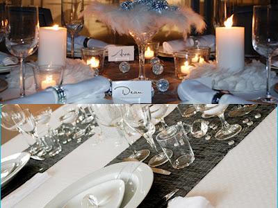 NYE table setting