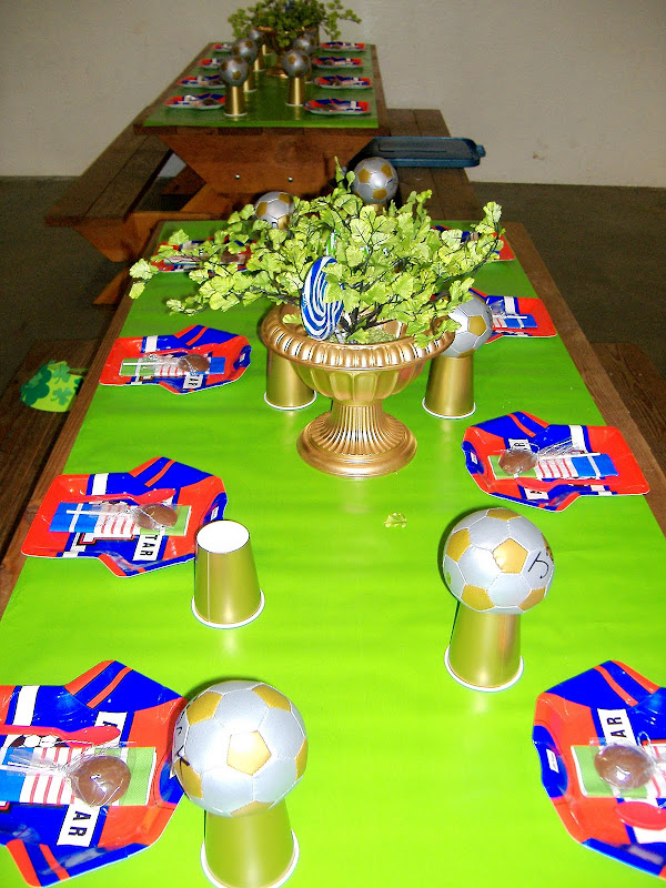 soccer party table 3