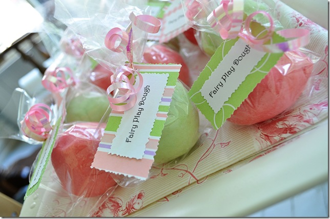 fairy party playdough favor