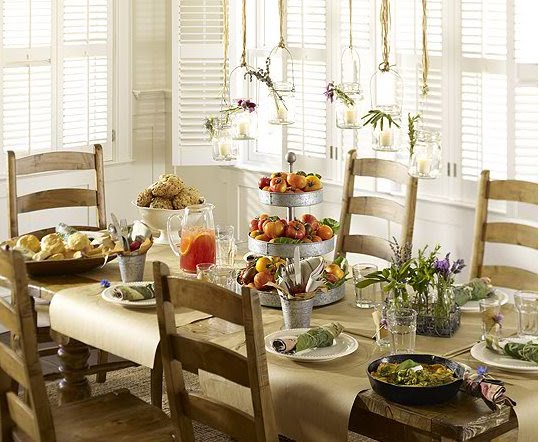 Pottery Barn farmhouse brunch