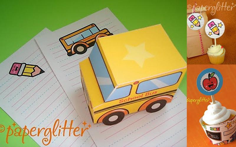 Glitter back to school printable