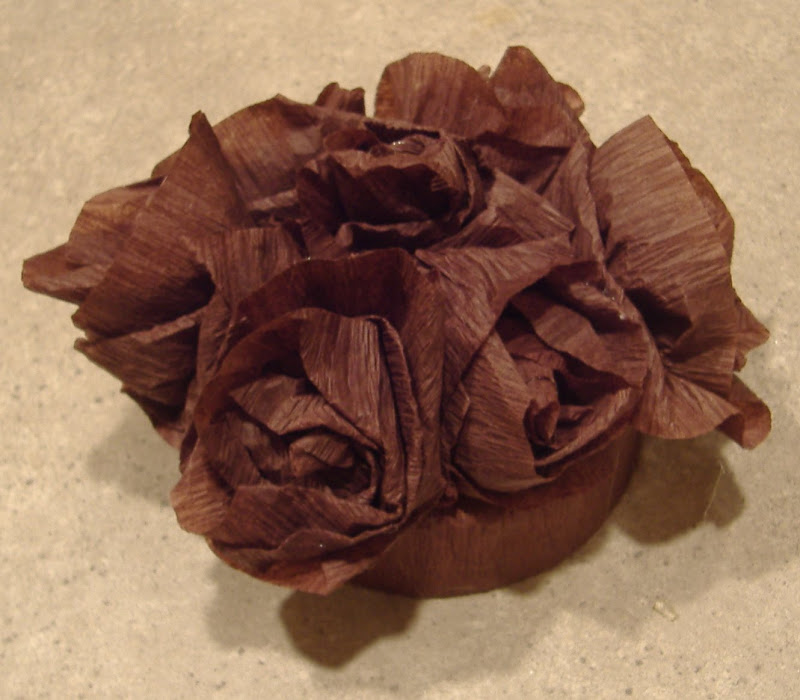 Crepe Paper Flower Toppers 5