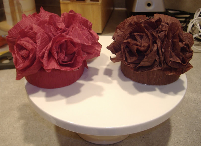 Crepe Paper Flower Toppers