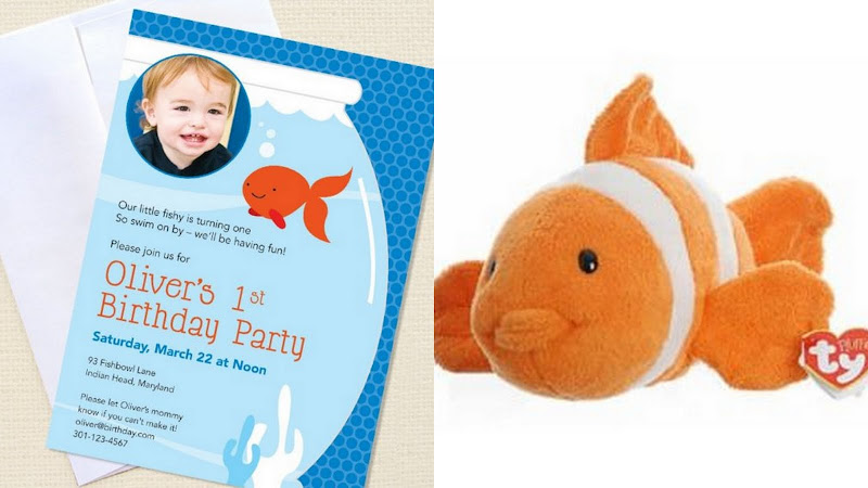 Goldfish first birthday party ideas