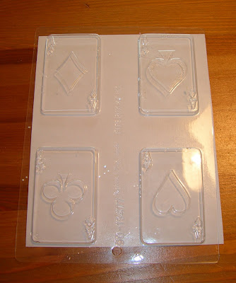 playing card candy mold