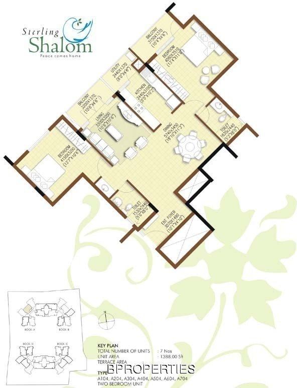 Bangalore properties sterling shalom for Sterling plan