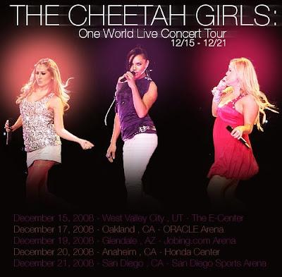 Cheetah girl concert schedule