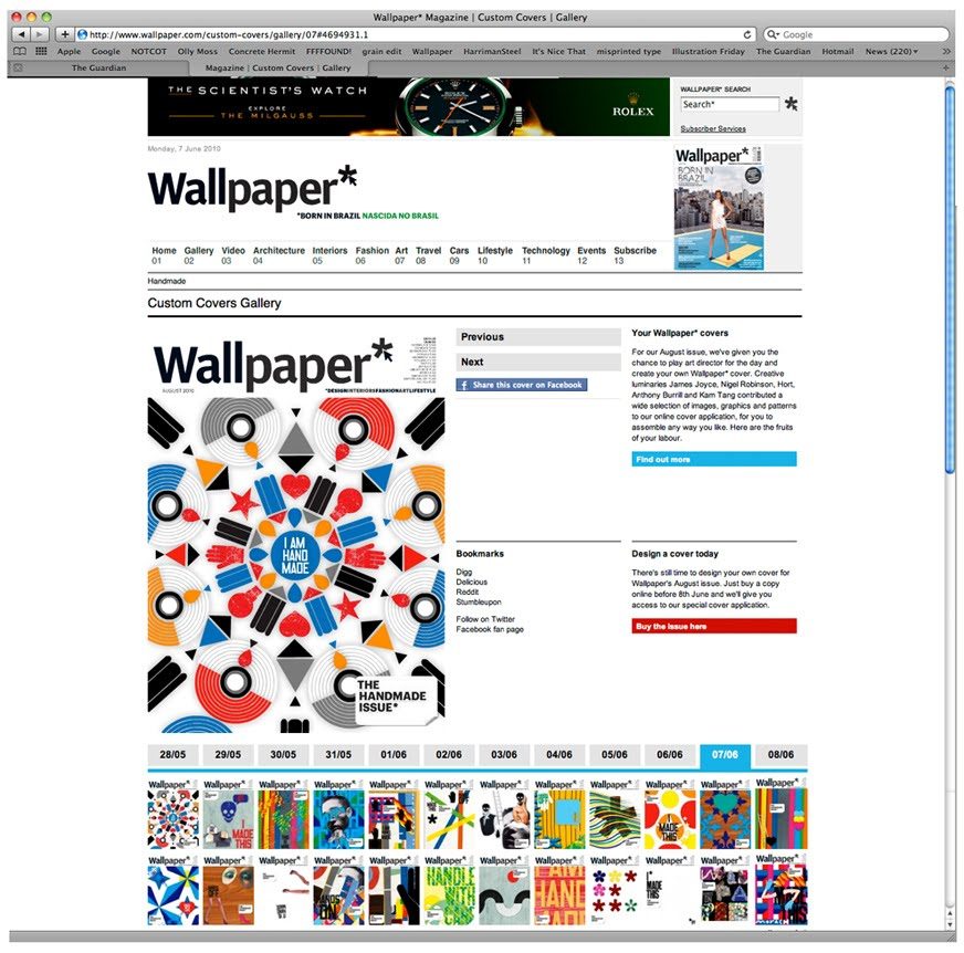 wallpaper magazine cover. Wallpaper* Magazine gave