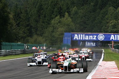 GP da Bélgica de Formula 1, Spa-Francorchamps em 2009 - f-1history.blogspot.com