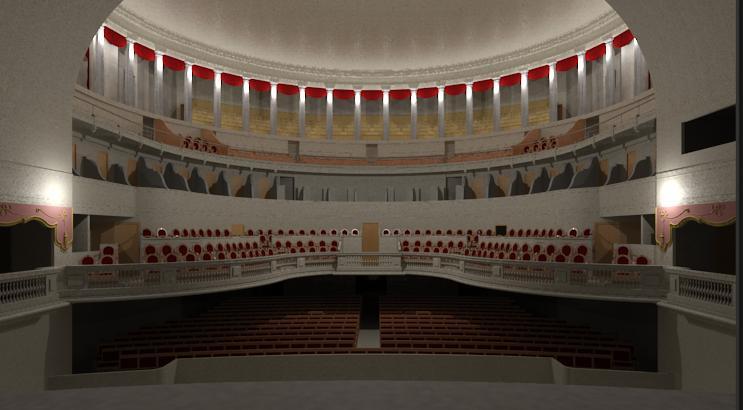 Le th tre de claude nicolas ledoux besan on la salle vue de la sc ne en 1875 - Theatre de la coupe d or ...