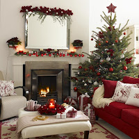 Decorative Christmas Fireplace Desktop Wallpapers