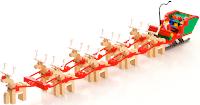 santa reindeer sleigh wallpaper