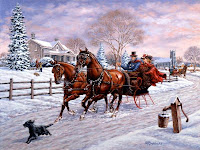 sleigh ride wallpaper