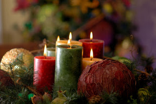 Christmas lighting candles desktop wallpaper