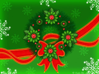 Animated Christmas Wreath Wallpapers