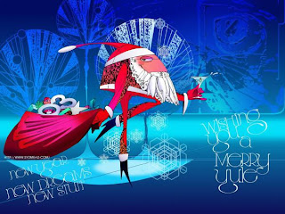 funny christmas santa desktop wallpaper