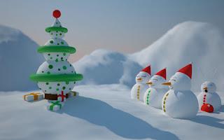 Christmas Snowman Desktop Pictures