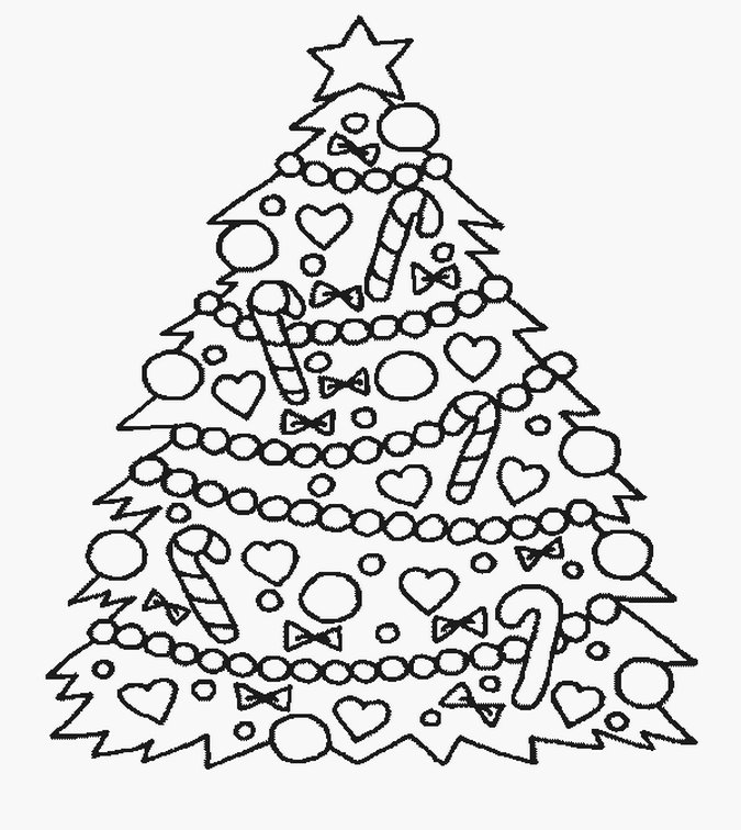 Christmas Tree Kids Coloring Pages Realistic Coloring Pages