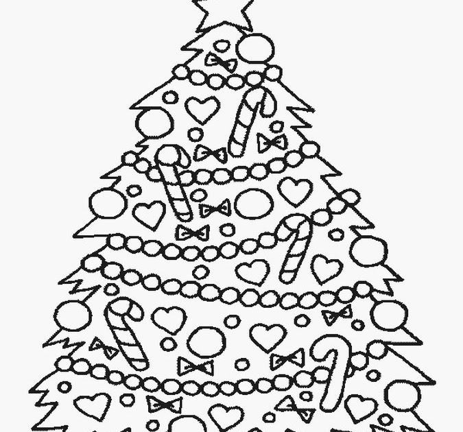 christmas for god christmas tree coloring page