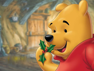 free winnie the pooh christmas clipart