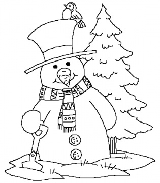 Elmo Snowman Coloring Pages Christmas