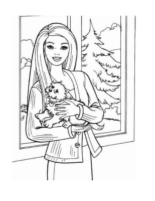Online Coloring Pages on Coloring Pages Barbie By Bruno