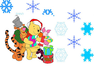Winnie the Pooh Christmas Desktop Wallpaper