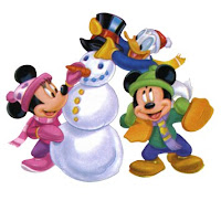 mickey mouse minnie mouse snowman