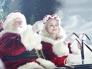 old santa claus in sleigh