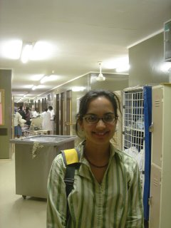 An Indian female(Shanthi) working in famous hospital in America
