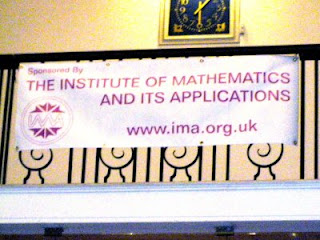 banner; reads: Sponsored by the Institute of Mathematics and its Applications www.ima.org.uk