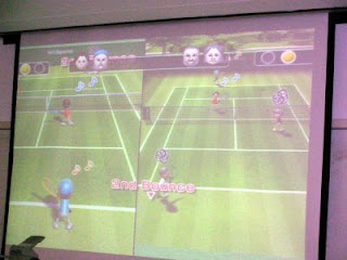 Playing tennis 2