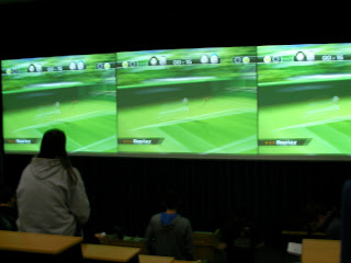 Wii Tennis at Leicester 1