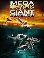 Mega sharp versus giant octopus