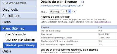 google outils pour webmasters diagnostic du contenu